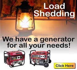 Load Shedding - Ryobi Generators